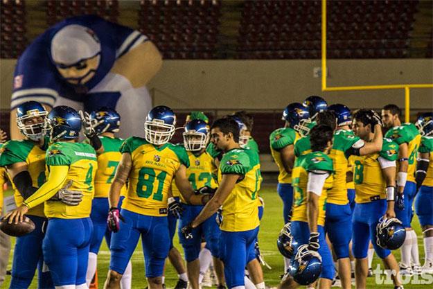 Jogadores do Brasil celebram conquista inédita. Foto Trois/Divulgação
