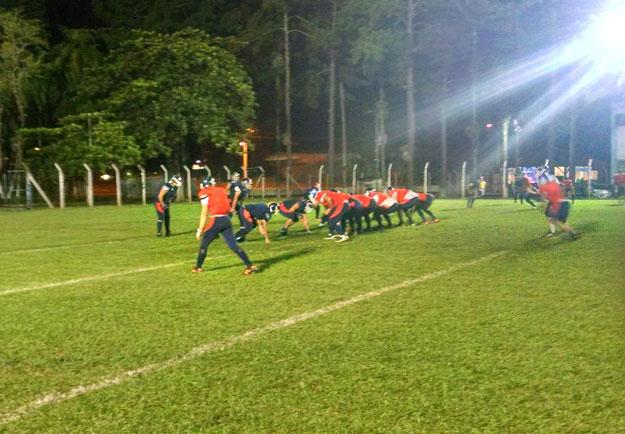 Elenco segue na preparação à disputa do Torneio Touchdown. Foto Divulgação/Breakers